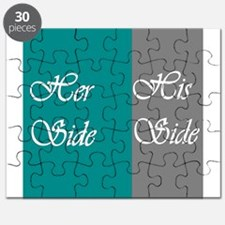Her Side: His Side , Teal/Grey Puzzle