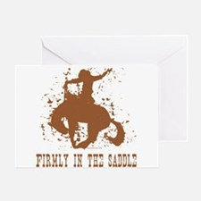Firmly in the saddle. Greeting Card