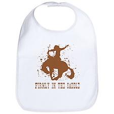 Firmly in the saddle. Bib