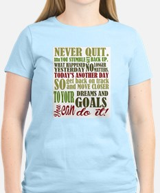 Never Quit Women's Cap Sleeve T-Shirt