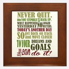 Never Quit Framed Tile