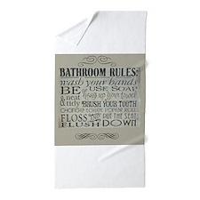 bathroom rules Beach Towel