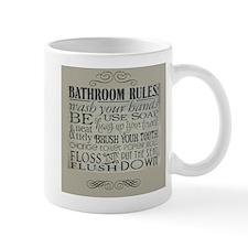 bathroom rules Mugs