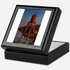 Water Tower Sunset Keepsake Box