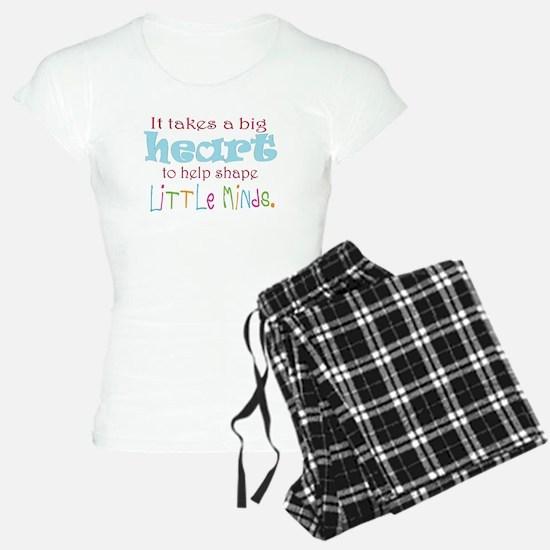 big heart: teacher, pajamas