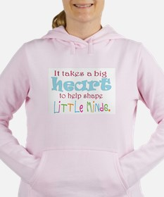 big heart: teacher, Women's Hooded Sweatshirt
