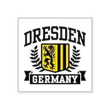 """Unique Dresden Square Sticker 3"""" x 3"""""""