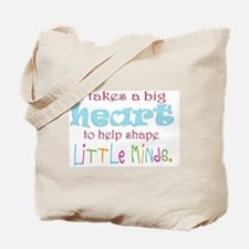 big heart: teacher, Tote Bag