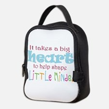 big heart: teacher, Neoprene Lunch Bag