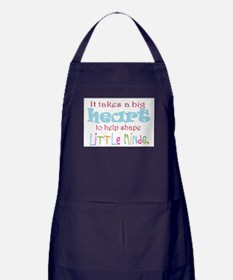 big heart: teacher, Apron (dark)
