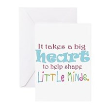 big heart: teacher, Greeting Cards