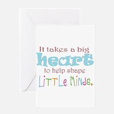 big heart: teacher, Greeting Cards