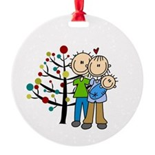 New Parents Of Baby Boy Christmas Ornament