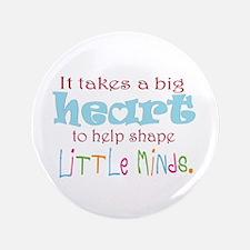 """big heart: teacher, 3.5"""" Button (100 pack)"""