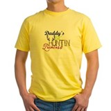 Daddys little princess Mens Yellow T-shirts