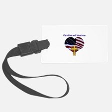Christian AND American Luggage Tag