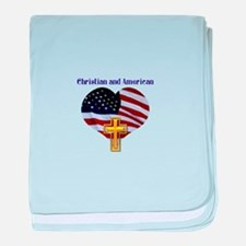 Christian AND American baby blanket