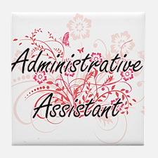 Administrative Assistant Artistic Job Tile Coaster