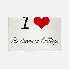 I love Jdj American Bulldogs Magnets