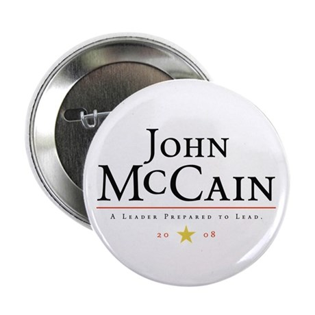 """John McCain Ready to Lead 2.25"""" Button (100 pack)"""