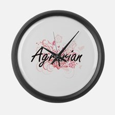 Agrarian Artistic Job Design with Large Wall Clock