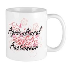 Agricultural Auctioneer Artistic Job Design w Mugs