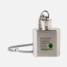 The Grass is Always Greener where t Flask Necklace