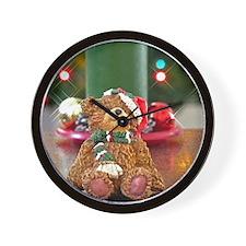 Funny Christmas bear Wall Clock