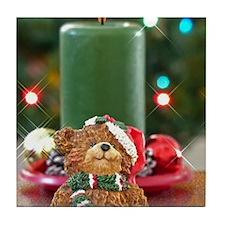 Unique Christmas bear Tile Coaster
