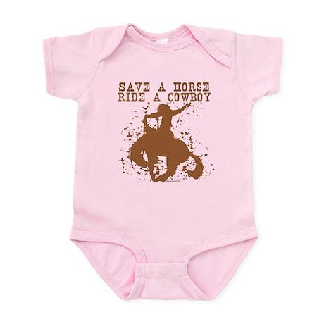 Save a horse, ride a cowboy. Infant Bodysuit
