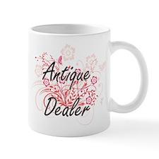 Antique Dealer Artistic Job Design with Flowe Mugs