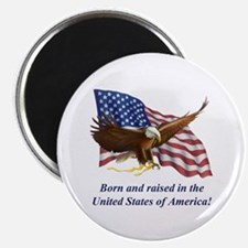 """Born Raised In USA! Eagle 2.25"""" Magnet (100 pack)"""