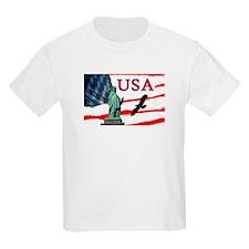USA Statue Of Liberty/Eagle T-Shirt