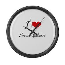 I love Bracco Italianos Large Wall Clock