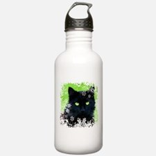 BLACK CAT & SNOWFLAKES Water Bottle