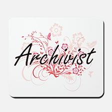 Archivist Artistic Job Design with Flowe Mousepad