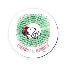 Peanuts Snoopy Merry and Bright Round Coaster