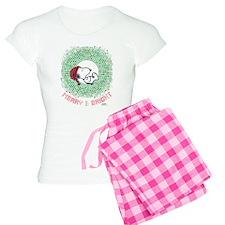 Peanuts Snoopy Merry and Br Women's Light Pajamas