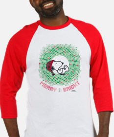 Peanuts Snoopy Merry and Bright Baseball Jersey