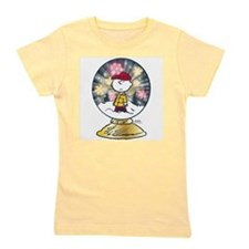 Charlie Brown - Snow Globe Girl's Tee