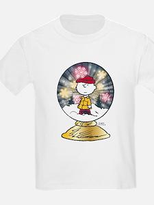 Charlie Brown - Snow Globe T-Shirt