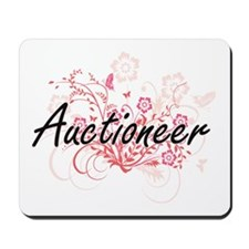 Auctioneer Artistic Job Design with Flow Mousepad