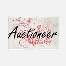 Auctioneer Artistic Job Design with Flower Magnets