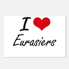 I love Eurasiers Postcards (Package of 8)