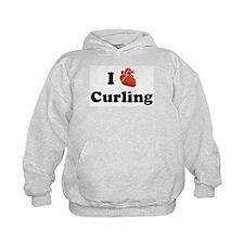 I (heart) Curling Hoodie