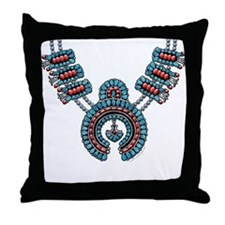 Squash Blossom Necklace Throw Pillow
