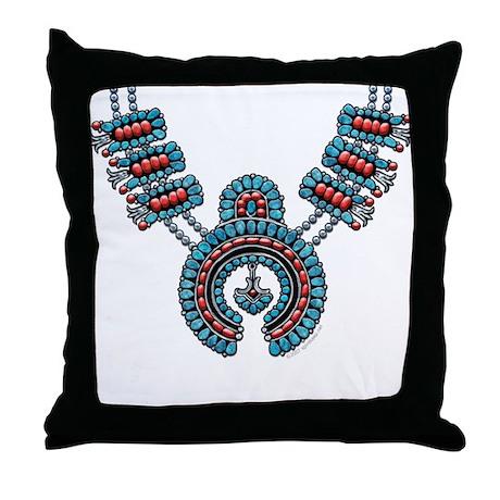 Squash Blossom Necklace Throw Pillow