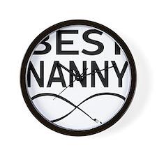 BEST NANNY EVER Wall Clock