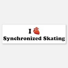 I (Heart) Synchronized Skatin Bumper Bumper Bumper Sticker