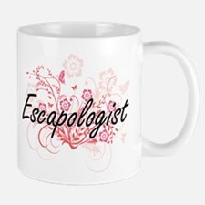 Escapologist Artistic Job Design with Flowers Mugs